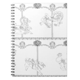 Color Me Carousel Notebook