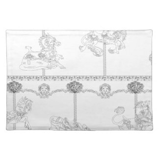 Color Me Carousel Placemat