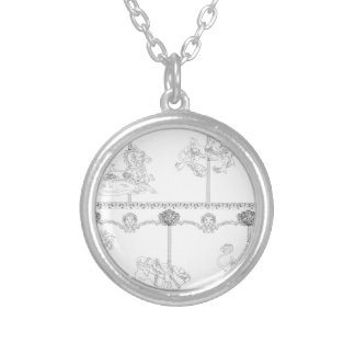 Color Me Carousel Silver Plated Necklace