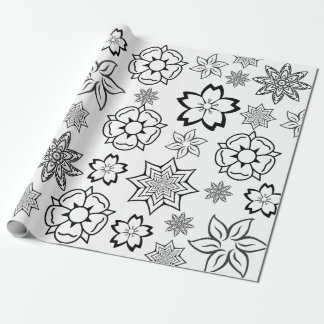"""Color Me"" Flowers Wrapping Paper"