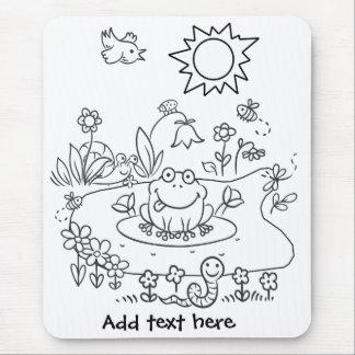 Color Me Pond Life DIY Mouse Pad