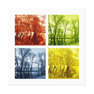 Color mirror canvas print