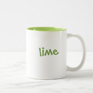 Color mug set: lime, matching lime green interior
