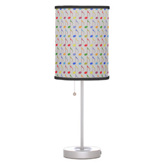 color musical notes pattern table lamp
