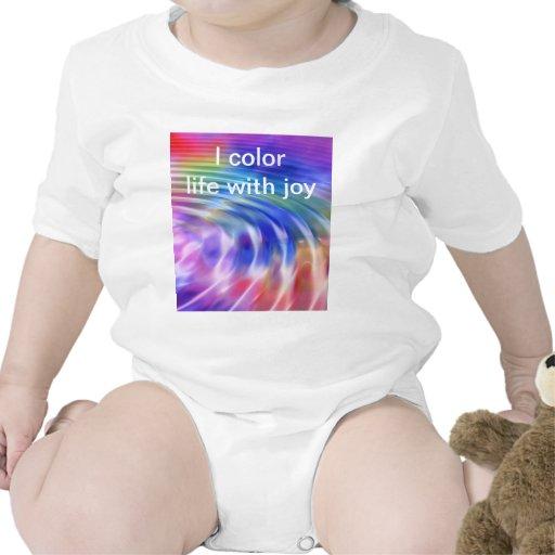 Color my life with joy tee shirt