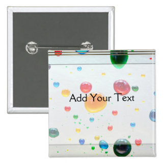 Color My World Bright Paint Drops 2 Inch Square Button