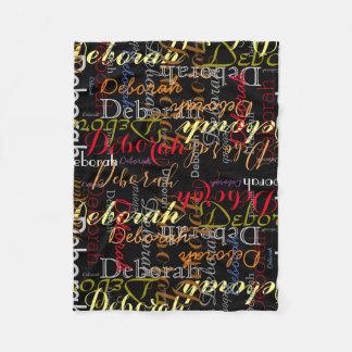 color name pattern on black fleece blanket