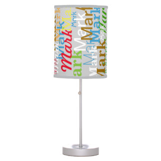 color names pattern typography creative table lamp