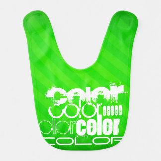 Color; Neon Green Stripes Bib