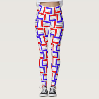 Color of Patriotism:  Red White & Blue Leggings