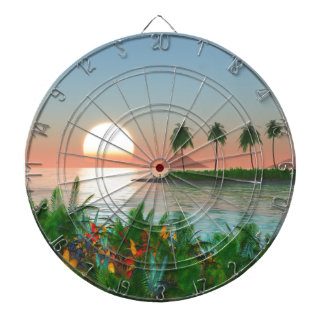 Color of Tropic Dartboard
