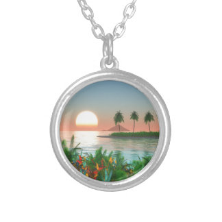 Color of Tropic Silver Plated Necklace