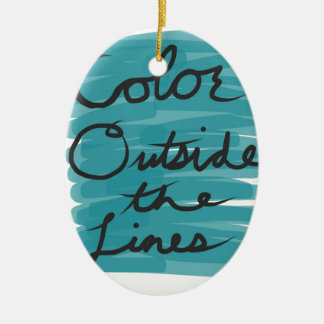 Color Outside the Lines Ceramic Oval Ornament
