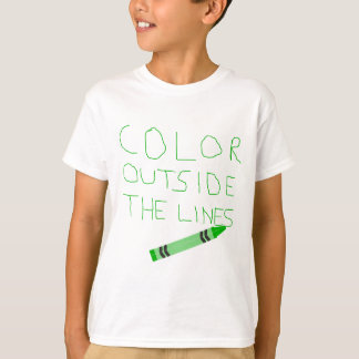 Color Outside The Lines (Green) T-Shirt