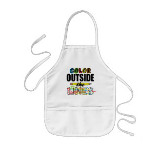 Color Outside The Lines Kids Apron