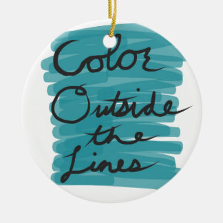 Color Outside the Lines Round Ceramic Ornament
