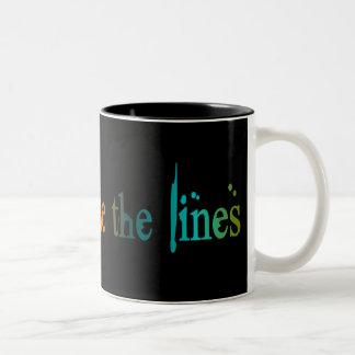 Color Outside The Lines Two-Tone Coffee Mug
