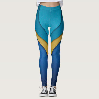 Color Overlapping Shapes Leggings