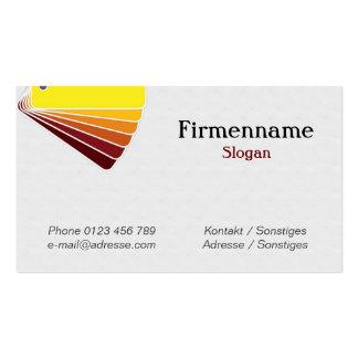 Color palette business card