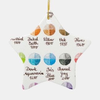 Color palette ceramic ornament