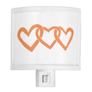 Color Palette Orange Infinity Heart Nursery Nite Light