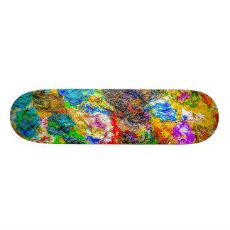 Color palette skateboard deck