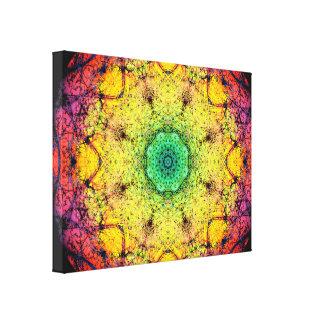 Color Paradise Mandala Canvas Print