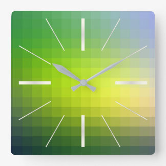 color pattern 10 square wall clock