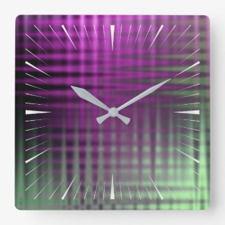 color pattern 1 square wall clock