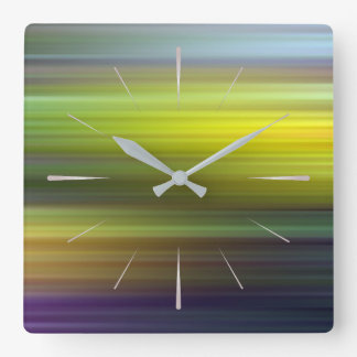 color pattern 5 square wall clock