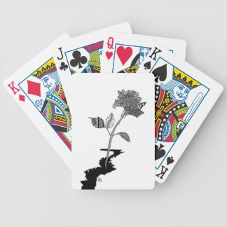Color Pencil Detroit Rose Bicycle Playing Cards