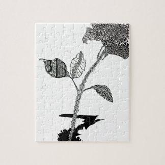 Color Pencil Detroit Rose Jigsaw Puzzle