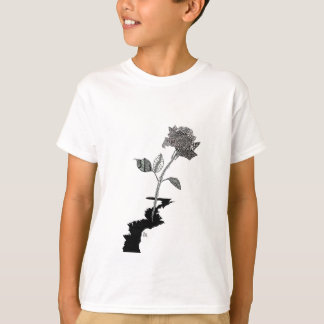 Color Pencil Detroit Rose T-Shirt