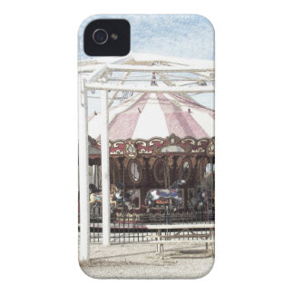 Color Pencil Sketch of Antique Carousel iPhone 4 Covers