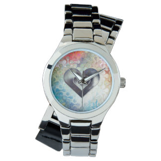 Color Pencil Sketched Heart Watch