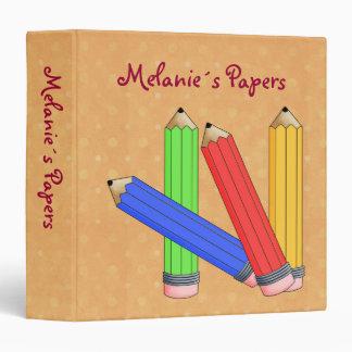 Color Pencils 3 Ring Binder