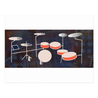 Color Percussion Postcard