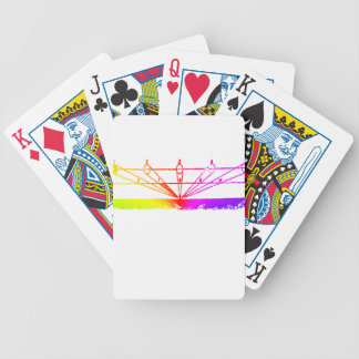 Color Perspective, Zetetic Astronomy by Parallax Bicycle Playing Cards