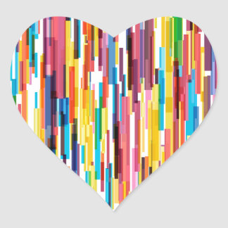 Color Pikes Pattern Heart Sticker