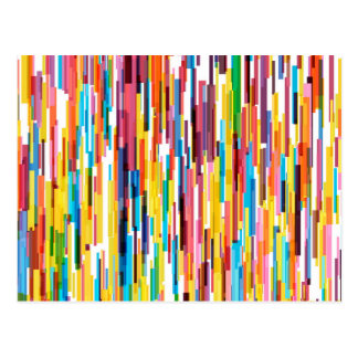 Color Pikes Pattern Postcard