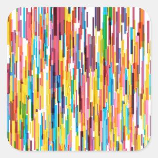 Color Pikes Pattern Square Sticker