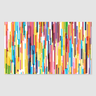 Color Pikes Pattern Sticker