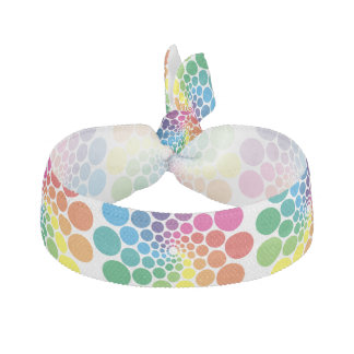 Color Points Circle Pattern + your background Ribbon Hair Tie