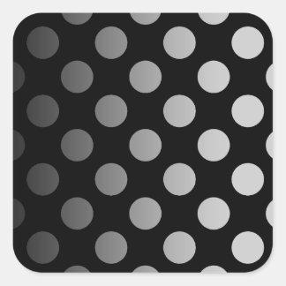 Color Polka Dotted Square Sticker