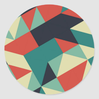 Color Polygons Classic Round Sticker