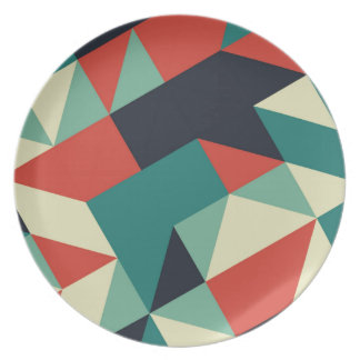 Color Polygons Plate