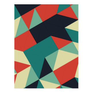 Color Polygons Postcard