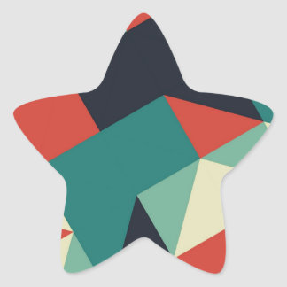 Color Polygons Star Sticker