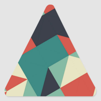 Color Polygons Triangle Sticker