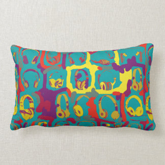 color pop art dj headphones pillows